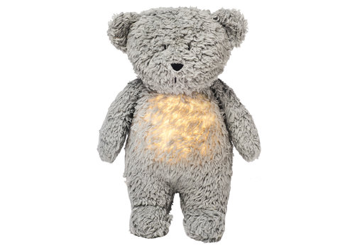 Moonie hug heartbeat and light Bear Mineral Gray