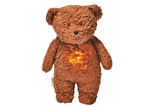 Moonie hug heartbeat and light Bear Caramel