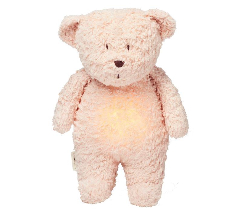 Moonie knuffel hartslag en licht Bear Rose
