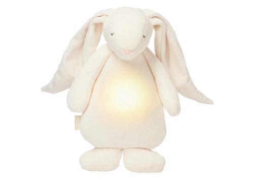 Moonie knuffel hartslag en licht Bunny Cream