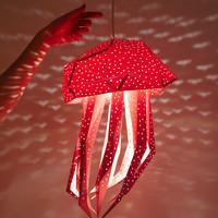 Vasili Lights paper DIY hanging lamp jellyfish - pink