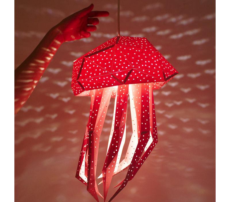 Vasili Lichter Papier DIY Hängelampe Quallen - rosa