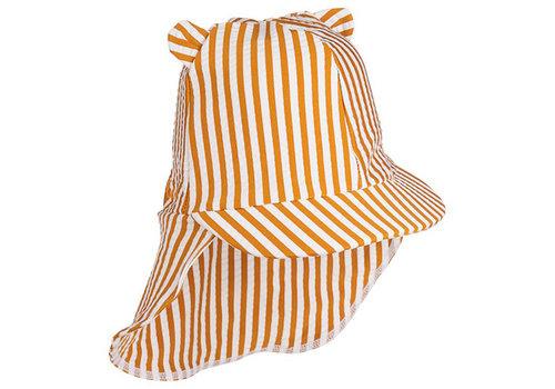 Liewood Senia sun hat stripe mustard / white - Copy
