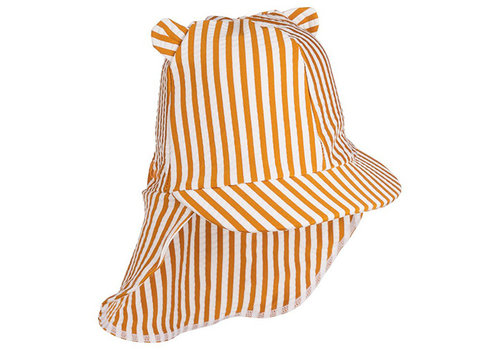 Liewood Senia zonnehoedje stripe mustard/white