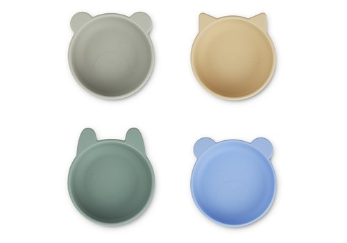 Liewood Iggy silicone bowls peppermint multi mix  - 4 pack