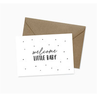 Studio Hoeked ansichtkaart Welcome little baby