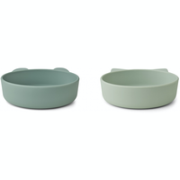 Liewood Vanessa silicone bowls 2 pack mint mix