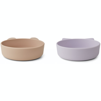 Liewood Vanessa silicone bowls 2 pack light lavender rose mix