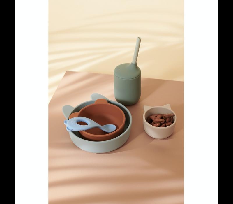 Liewood Eddie silicone bowls 2 pack Blue multi mix