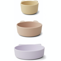 Liewood Eddie silicone bowls 2 pack Light lavender multi mix