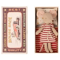 Maileg Big sister with red striped dress in matchbox