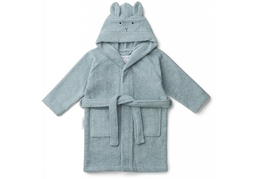 Liewood bathrobe rabbit sea blue