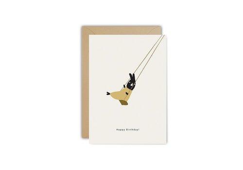 Ted und Tone Postkarte Geburtstagsschaukel