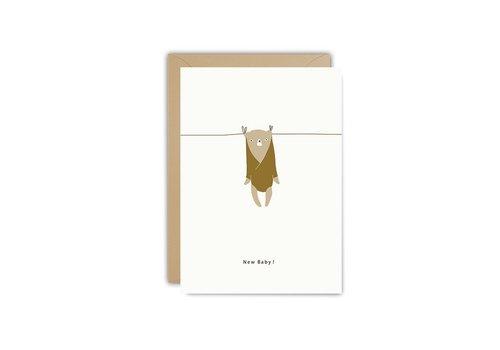 Ted und Ton Postkarte neues Baby