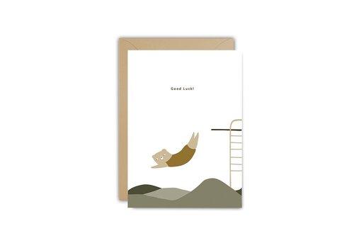 Ted und Tone Postkarte viel Glück