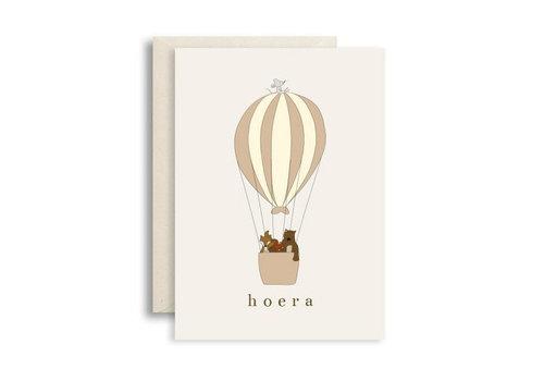 Studio bydiede postcard hooray hot air balloon