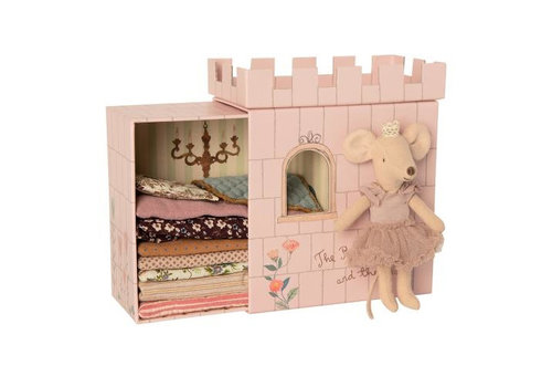 Maileg mouse princess on the pea dark pink