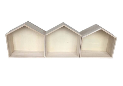 Wall houses medium large - 3 pieces
