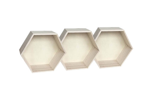 Hexagon wall cabinets small - 3 pieces