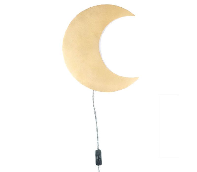 KidsDepot Barbo wall lamp moon gold