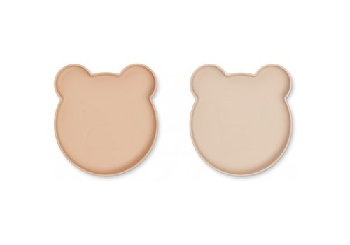 Liewood Marty plate mr bear rose mix - 2 pack