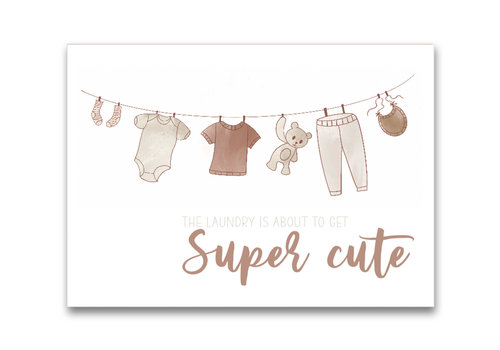Mevrouw Aardbei ansichtkaart Super cute