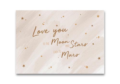 Mevrouw Aardbei ansichtkaart Love you