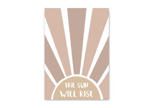 Mrs. Strawberry postcard The sun will rise