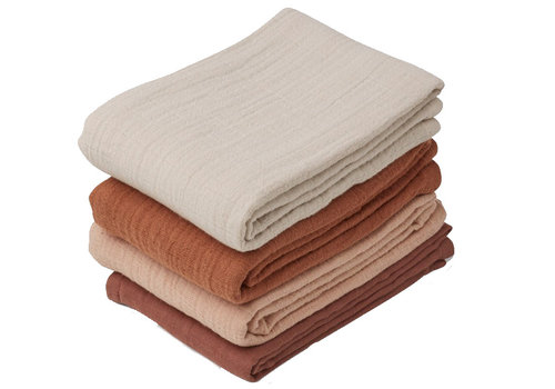 Liewood 4 pack hydrofiele doeken leon rose mix
