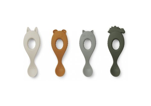 Liewood Liva Silicone lepels 4 Pack - hunter green