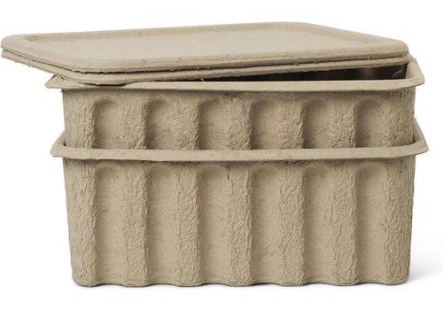 Ferm Living storage box pulp - large - set of 2