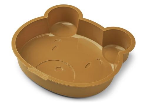 Liewood Amory silicone cake mold Mr Brear golden caramel