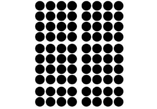 Pom le Bonhomme 120 wall stickers dots black 3,5cm