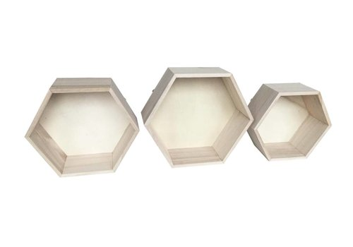 Hexagon wall cabinets