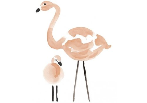 Lilipinso muurstickers flamingo XL