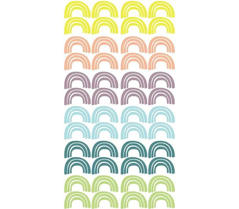 Pom le Bonhomme Wandaufkleber Regenbogen Pastell