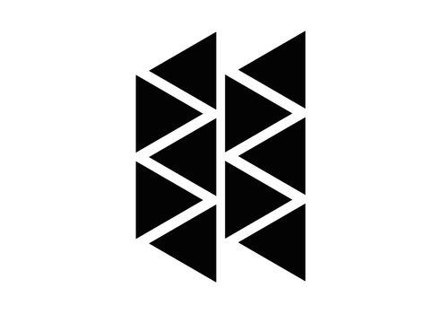 Mevrouw Aardbei 10 Wand Aufkleber Dreieck 8 cm