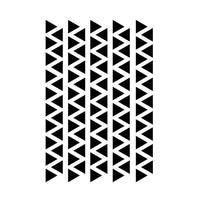 Mrs. Aardbei 95 wall stickers triangle black 2.2 cm