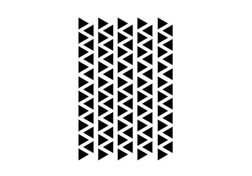 Mrs Aardbei 95 Wandsticker Dreieck schwarz 2,2 cm