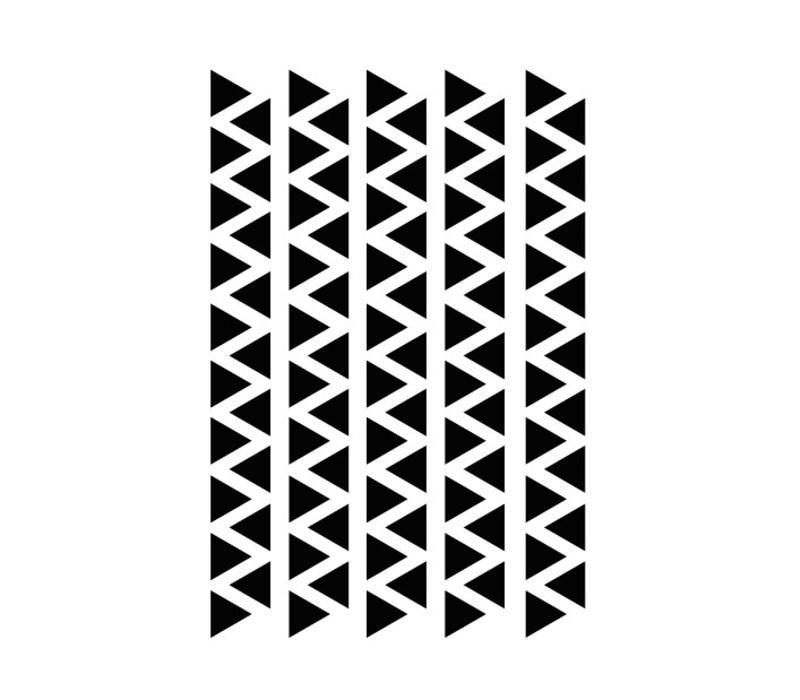 Mevrouw Aardbei 95 muurstickers driehoek zwart 2,2 cm