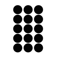 Mevrouw Aardbei 15 wall stickers circle black 5 cm