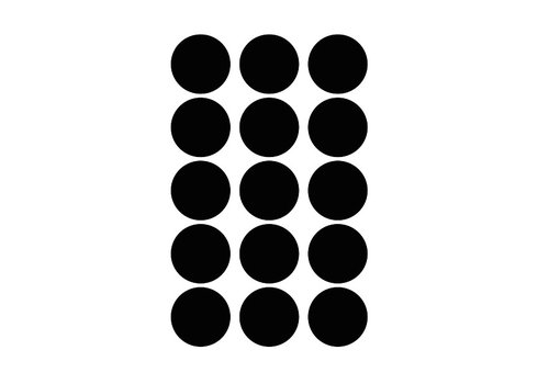 Frau Erdbeere 15 Wandaufkleber schwarzer Kreis 5 cm