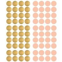 Pom le Bonhomme 120 Wandaufkleber Punkte gold pink 3,5cm