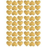 Pom le Bonhomme 72 Wandsticker Herzen Gold