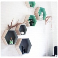 Hexagon wandkastjes