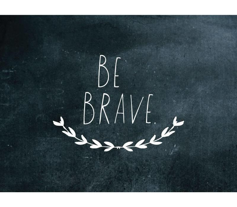 Shanna Murray wall sticker be brave - white
