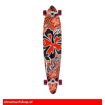 Voltage Spannung Rote Hibiskus-Longboard