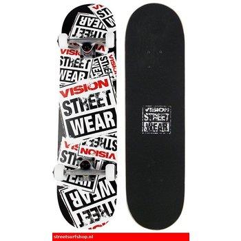 Vision Geschichte Collage Schwarz Skateboard