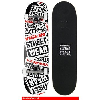 Vision Vision Story Collage Black Skateboard