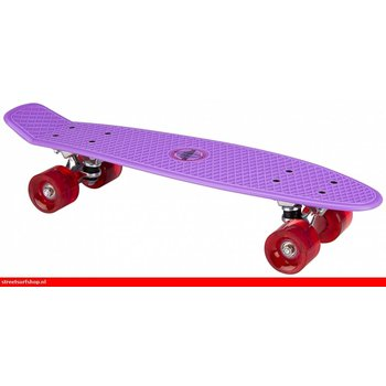 Nijdam Nijdam 22'' Flipgrip Retro Skateboard LED Paars/Fuchsia